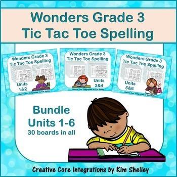 Wonders Grade 3 Spelling Tic Tac Toe BUNDLE