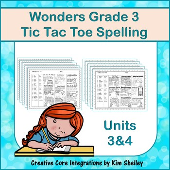 Wonders Grade 3 Spelling Tic Tac Toe UNITS 3 and 4