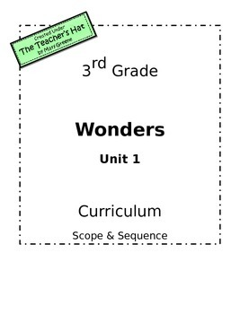 Wonders Grade 3 Unit 1 Curriculum Scope & Sequence