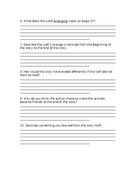 Wonders Grade 3 Unit 1 Literature Anthology Comprehension Questions