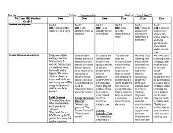 Wonders Grade 3 Unit 1 Week 2 Lesson Plans