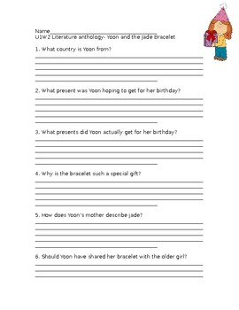 Wonders Grade 3 Unit 1 Week 2 Literature Anthology Comprehension Questions