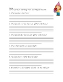 Wonders Grade 3 Unit 1 Week 2 Literature Anthology Compreh