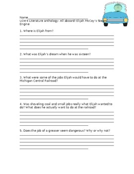 Wonders Grade 3 Unit 1 Week 4 Literature Anthology Comprehension Questions