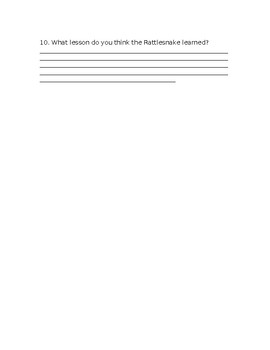 Wonders Grade 3 Unit 2 Week 1 Literature Anthology Comprehension Questions