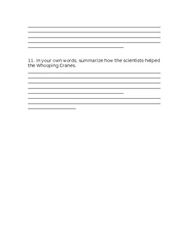 Wonders Grade 3 Unit 2 Week 4 Literature Anthology Comprehension Questions