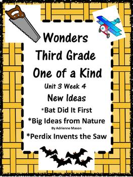 Wonders:  Grade 3 Unit 3.4:  New Ideas