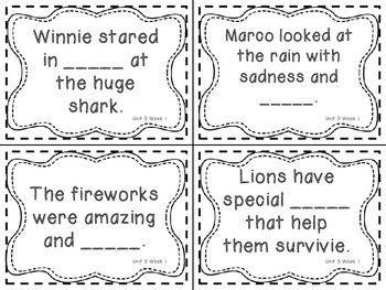 Wonders Grade 3: Unit 3 Week 1 Vocabulary Games