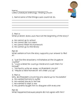 Wonders Grade 3 Unit 3 Week 2 Literature Anthology Comprehension Questions