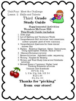Wonders:  Grade 3 Unit 4.2  Meet the Challenge