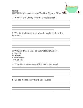 Wonders Grade 3 Unit 4 Week 1 Literature Anthology Comprehension Questions