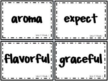 Wonders Grade 3: Unit 4 Week 1 Vocabulary Games