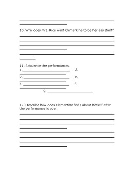 Wonders Grade 3 Unit 4 Week 2 Literature Anthology Comprehension Questions