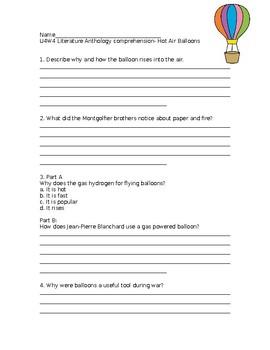 Wonders Grade 3 Unit 4 Week 4 Literature Anthology Comprehension Questions