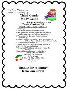 Wonders: Grade 3 Unit 5.3 Teaming Up
