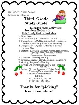 Wonders:  Grade 3 Unit 5.5 Energy