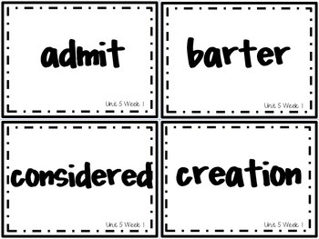 Wonders Grade 3: Unit 5 Week 1 Vocabulary Games