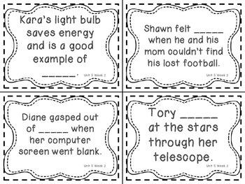 Wonders Grade 3: Unit 5 Week 2 Vocabulary Games