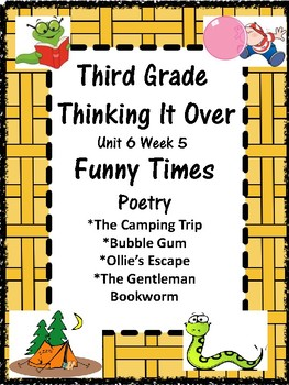 Wonders:  Grade 3 Unit 6.5 Funny Times