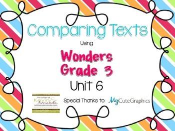 Wonders Grade 3: Unit 6 Comparing Texts