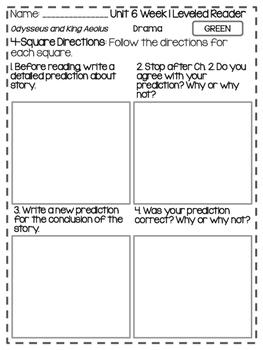 Wonders Grade 3: Unit 6 Leveled Readers Response Sheets