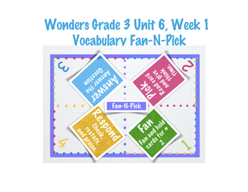 Wonders Grade 3 Unit 6 Week 1 Vocabulary
