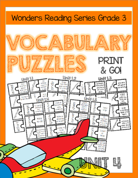 WONDERS GRADE 3 VOCABULARY PUZZLES Unit 4