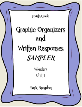 Wonders Grade 4 Graphic Organizers SAMPLE