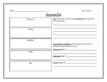 McGraw Hill Wonders Grade 4 Leveled Reader Graphic Organizers - Unit 1 Week 1