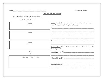 McGraw Hill Wonders Grade 4 Leveled Reader Graphic Organizers - Unit 3 Week 1
