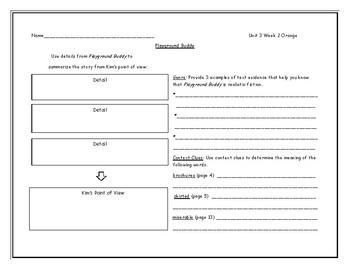 McGraw Hill Wonders Grade 4 Leveled Reader Graphic Organizers - Unit 3 Week 2