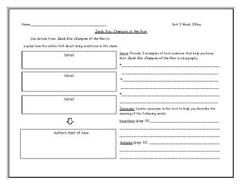 McGraw Hill Wonders Grade 4 Leveled Reader Graphic Organizers - Unit 3 Week 3