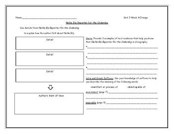 McGraw Hill Wonders Grade 4 Leveled Reader Graphic Organizers - Unit 3 Week 4