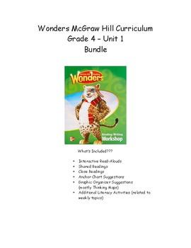 Wonders Grade 4 Unit 1 Bundle
