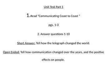 Wonders Grade 4 Unit 1 Test Powerpoint