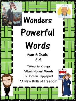 Wonders:  Grade 4 Unit 3.4 Powerful Words