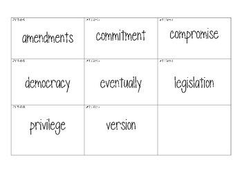 Wonders Grade 4 - Unit 4 Week 1 Vocabulary