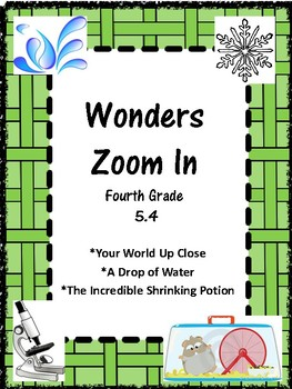 Wonders:  Grade 4 Unit 5.4  Zoom In