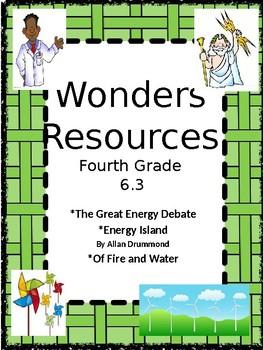 Wonders:  Grade 4 Unit 6.3 Resources