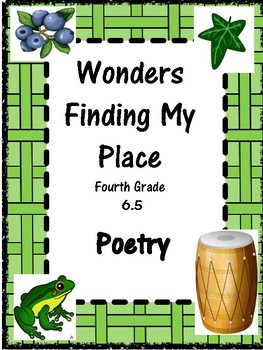 Wonders:  Grade 4 Unit 6.5 Finding My Place