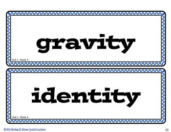 Wonders Grade 4 Vocabulary Cards for Word Walls