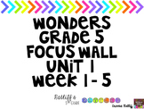 Wonders Grade 5 Focus Wall Unit 1