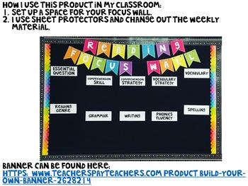 Wonders Grade 5 Focus Wall Unit 3 Weeks 1-5