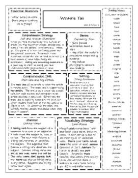 Wonders Grade 5 Unit 3 Summary Sheets