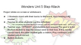 Wonders Grade 6 Unit 1 Weeks 1-5 Slap Attack Review Game