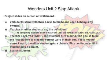 Wonders Grade 6 Unit 2 Weeks 1-5 Slap Attack Review Game