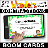 3rd Grade Wonders | Grammar Practice BOOM CARDS | Unit 4 Week 2: Contractions