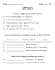 Wonders Grammar Quizzes (Grade 3, Unit 1)