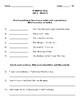 Wonders Grammar Quizzes (Grade 3, Unit 3)