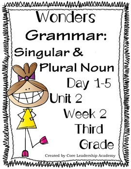 Wonders Grammar Singular & Plural Nouns  Unit 2 Week 2